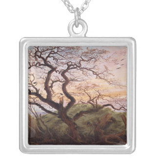 The Tree of Crows, 1822 Silver Plated Necklace
