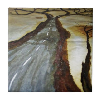 The Tree of Life with the Road that Forks3-Down th Ceramic Tile