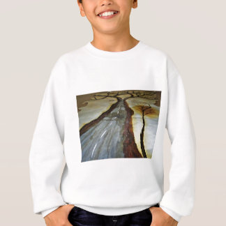 The Tree of Life with the Road that Forks3-Down th Sweatshirt