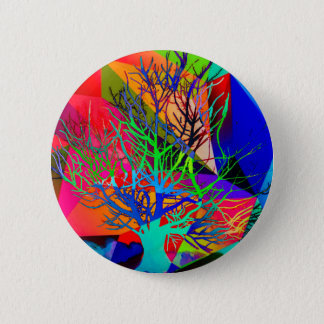The tree of love makes our rainbow 6 cm round badge