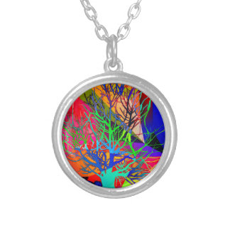 The tree of love makes our rainbow silver plated necklace