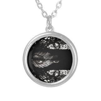 The Tree Watcher Round Pendant Necklace