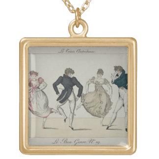 The 'Trenis' Quadrille, plate 19 from 'Le Bon Genr Square Pendant Necklace