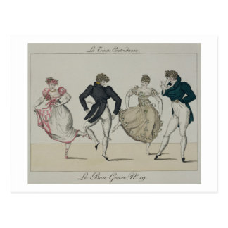 The 'Trenis' Quadrille, plate 19 from 'Le Bon Genr Postcard
