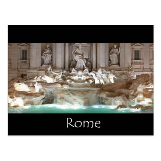 The Trevi fountain - Rome Postcard