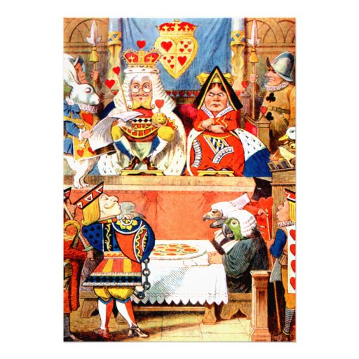 The Trial of the Knave of Hearts in Wonderland Photo Print