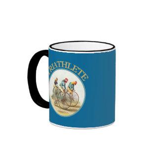 The Triathlon of Chickens Ringer Coffee Mug