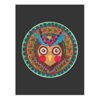 The Tribal Great Horned Owl Postcard