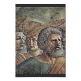 The Tribute Money  By Masaccio (Best Quality) Print