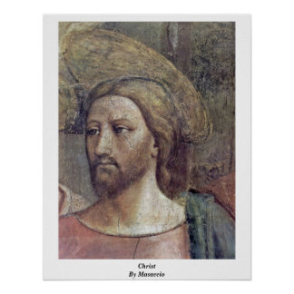 The Tribute Money Detail: Christ By Masaccio Poster