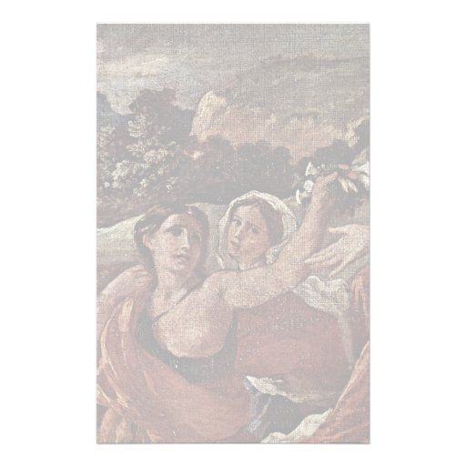 The Triumph Of Flora Detail  By Poussin Nicolas Customized Stationery