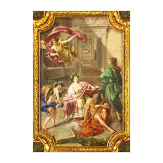 The Triumph of History over Time by Anton R Mengs Gallery Wrapped Canvas