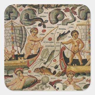 The Triumph of Neptune and Amphitrite Square Stickers