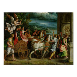 The Triumph of Titus and Vespasian, c.1537 Poster
