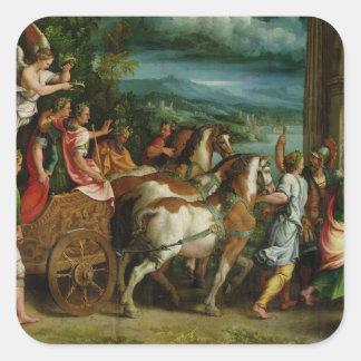 The Triumph of Titus and Vespasian, c.1537 Square Sticker