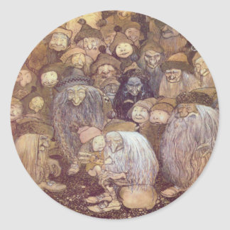 The Trolls and the Youngest Tomte Round Sticker