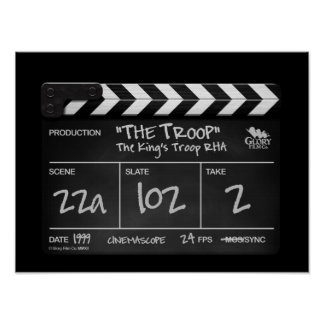 THE TROOP clapper board design poster