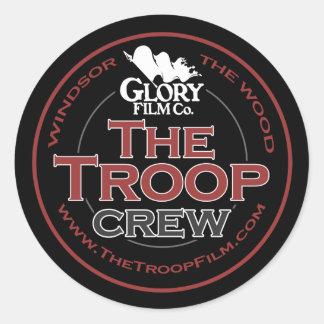 The Troop Crew case sticker (x6)