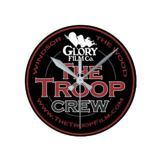 The Troop Crew (medium) wall clock