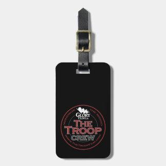The Troop Crew personalised luggage tag