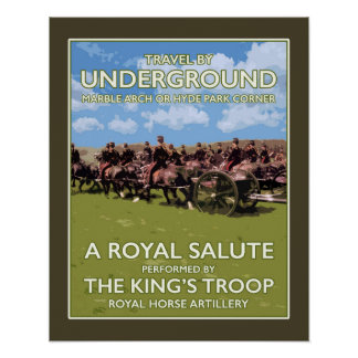 """The Troop London Tube Style Poster 16""""x20"""""""