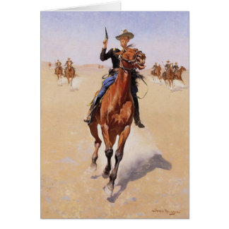 The Trooper by Frederic Remington Card