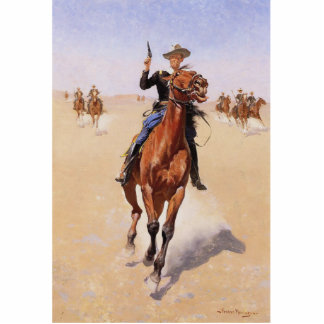The Trooper by Frederic Remington Photo Sculpture Magnet