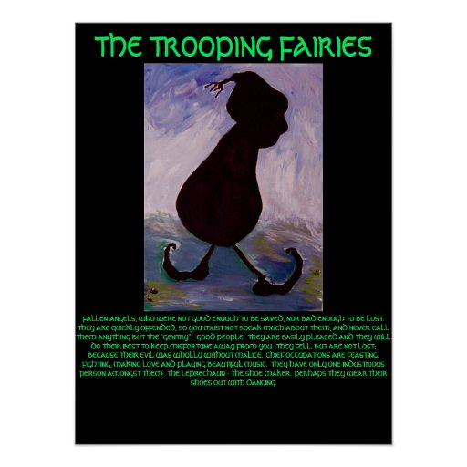 THE TROOPING FAIRIES Leprechaun  - POSTER