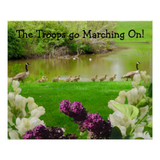 The Troops go Marching On Print