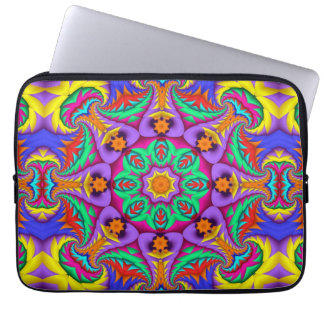 The tropical Kaleidoscope, geometric patterns Laptop Sleeve