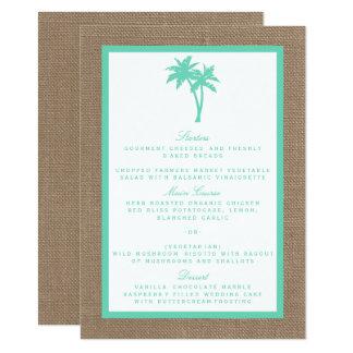 The Tropical Palm Tree Beach Wedding Collection 11 Cm X 16 Cm Invitation Card