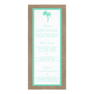The Tropical Palm Tree Beach Wedding Collection Customised Rack Card