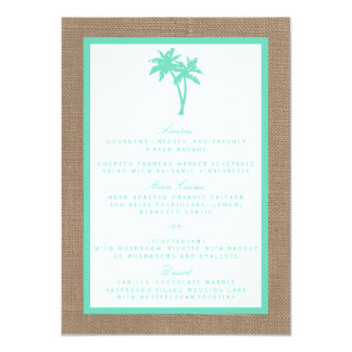 The Tropical Palm Tree Beach Wedding Collection 4.5x6.25 Paper Invitation Card