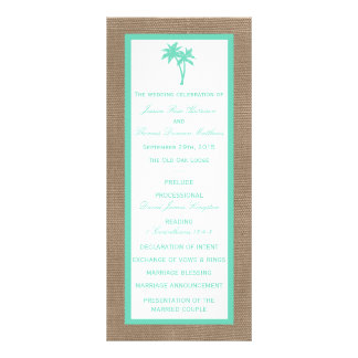 The Tropical Palm Tree Beach Wedding Collection Personalised Rack Card