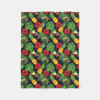 The Tropical Red Eyed Tree Frog Fleece Blanket