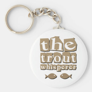 The Trout Whisperer Basic Round Button Key Ring