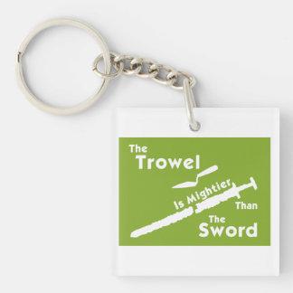 The Trowel is Mightier Key Chain