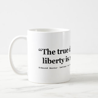 The True Danger is When Liberty is Nibbled Away Coffee Mug