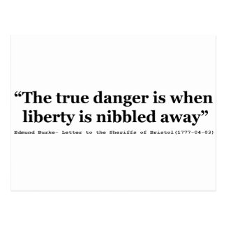 The True Danger is When Liberty is Nibbled Away Postcard