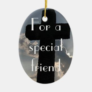 The True Meaning of Friendship (1 Corinthians 13) Ceramic Ornament