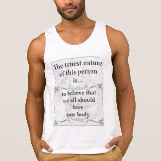 The truest nature: love body life tank top