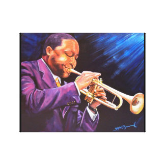 "The Trumpet Player 11"" x 14"" Canvas Gallery Print"