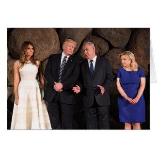 The Trumps & Netanyahus At Yad Vashem In Israel Card