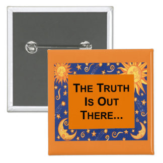 The Truth 15 Cm Square Badge