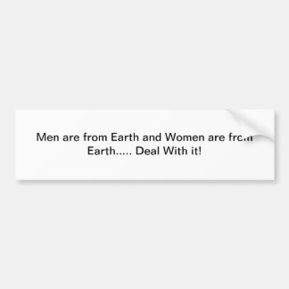 The truth about men and women. bumper sticker
