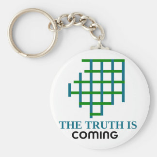 the truth is coming key ring