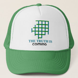 the truth is coming trucker hat