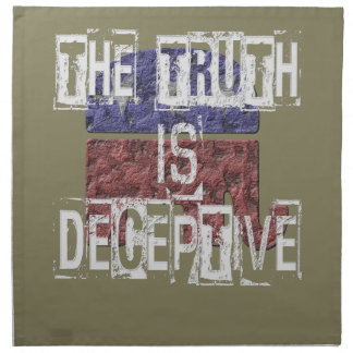 The Truth is Deceptive 1 Napkin