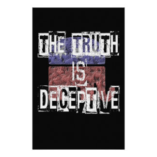 The Truth is Deceptive 1 Stationery