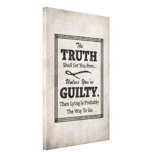 The Truth Shall Set You Free Stretched Canvas Print